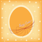 Easter Card with easter egg. — Stock Vector