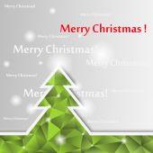 Christmas tree card. — Stock Vector