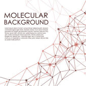 Molecule and Communication Background. — ストックベクタ