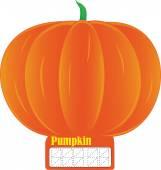 Pumpkin price tag — Vetor de Stock