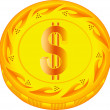 Dollar coin — Stock Vector #56934081