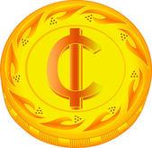 Cedi mynt — Stockvektor