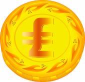 Lira coin — Stock Vector
