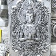 The beautiful fairy silver relief at the silver temple of Wat Sr — Stock Photo #56290635