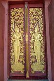 Beautiful door of the bodhgaya at wat Monmahinsiraram — Stock Photo