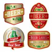 Set of bright beer labels — Stock Vector