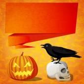 Halloween cute banner — Stock Vector