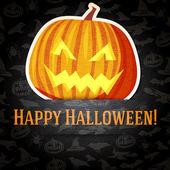 Счастливый Хэллоуин поздравительных открыток — Cтоковый вектор