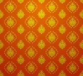 Kırmızı ve altın renkleri Barok duvar kağıdı. — Stok Vektör