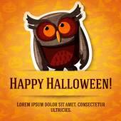 Happy Halloween greeting card — Stock Vector