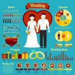 Set of wedding infographics — Stock Vector #80708178