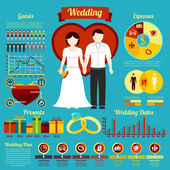Set of wedding infographics — Stock Vector