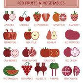Non - organic fruits and vegetables — Vector de stock