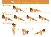 Twenty minute upper body burner — Stok Vektör