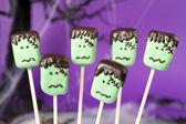 Frankenstein cake pops. — Stock Photo
