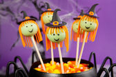 Witch cake pops. — Stock Photo