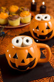 Halloween hot chocolate — Stock Photo