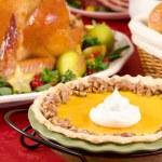 Pumpkin pecan pie — Stock Photo #56508499