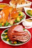 Honey glazed ham — Foto de Stock