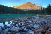 Cavell lake — Stock Photo