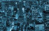 New York City night view — Stockfoto
