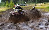 Off-road racing on ATV — Stock Photo