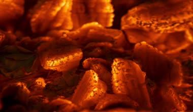 壁炉里的炭火 — 图库视频影像