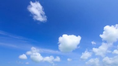 Time lapse cumulus clouds. — Stock Video
