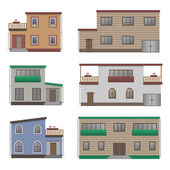 House and building set. — Stock Vector
