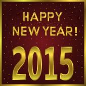 2015 happy New Year — Stockvektor