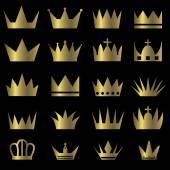 Crown set — Stock Vector