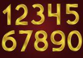 Golden numbers — Stock Vector