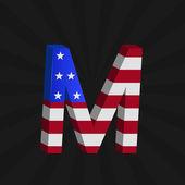 Alfabeto de la bandera de los e.e.u.u — Vector de stock