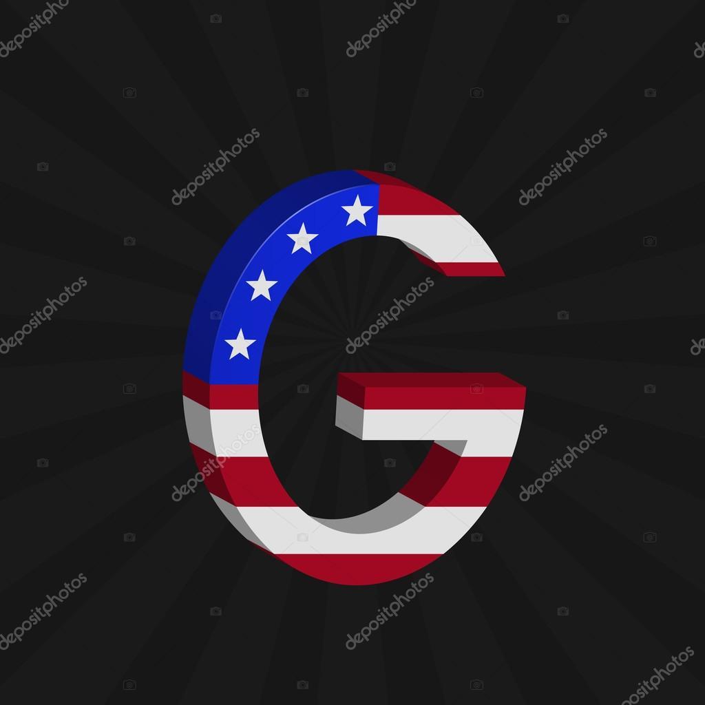 美国国旗字母 — 图库矢量图像08