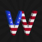 Usa vlajka abeceda — Stock vektor