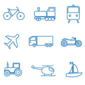 Mode of transport — Stock Vector