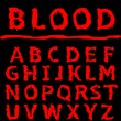 Постер, плакат: Blood letter set