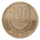 Costa Rican Colones coin — Stock Photo