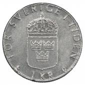 One Swedish Kronor coin — Stock Photo