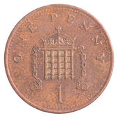One british penny coin — Stock Photo