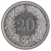 20 francs coin — Stock Photo