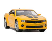 New yellow model sport car — Stock Photo