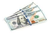Three hundred dollar bills — Stock Photo