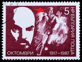 Lenin and A red army soldier — Stock Photo
