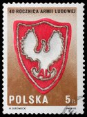 Emblem of polish People's Army — Stock Photo