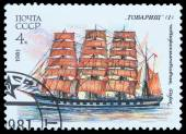 Russian sailing ships — Foto de Stock