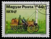 First locomotive — Stock Photo