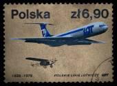 Polish airline — Foto de Stock