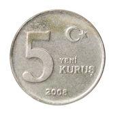 Turkish kurus coin — Zdjęcie stockowe