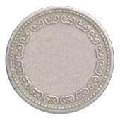 空白银硬币 — 图库照片